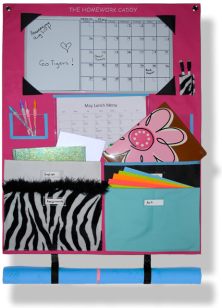 The Fuchsia & Zebra Homework Caddy